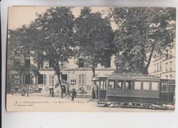 CPA - 93 - LE PRE SAINT-GERVAIS - Tramway éléctrique Ligne PORTE D'ALLEMAGNE Au PRE SAINT-GERVAIS Dev MAIRIE - Tramways