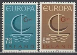 ISLAND  404-405, Postfrisch **, Europa CEPT 1966 - Ungebraucht