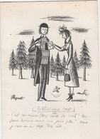 Carte Double D'Invitation Pour  Exposition  PEYNET   Saint Amand Les Eaux 2002 - Peynet