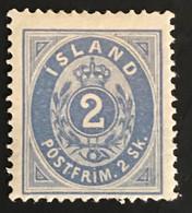 ISLAND 1873 N° 1 YT * Charnière - Timbre Signé Expert A. Brun - Cote 1000€ - Dents Manquantes Voir Scan - Ungebraucht