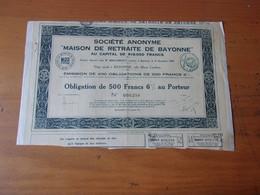 MAISON DE RETRAITE DE BAYONNE (1932) - Ohne Zuordnung