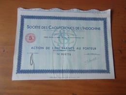 CAOUTCHOUCS DE L'INDOCHINE - Non Classificati
