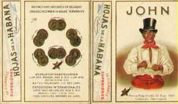 "Cuba  ~1938 Deko Chromo-Faltschachtel (unbenutzt) "" JOHN Colunas Hojas De La Habana 10 Cigaros "" Reklame Werbung A6 - Reclame-artikelen"