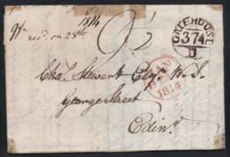 Postal History - Brief Vom 21.01.1814 Von Gatehouse Nach Edinburgh - Runder Meilenstempel Gatehouse 374 - Unclassified