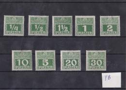 1910 POST IN LAVANTE-SATZ PORTOMARKEN YB ** - Oriente Austriaco