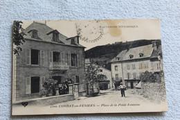 Cpa 1909, Condat En Feniers, Place De La Petite Fontaine, Cantal 15 - Condat