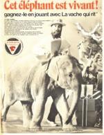 """PUB ELEPHANT Et La  """" VACHE QUI RIT  """" 1970  ( 19 ) - Other"""