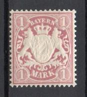 - ALLEMAGNE / BAVIERE N° 72 Neuf ** - 1 M. Lie-de-vin - Cote 10,00 € - - Bavaria