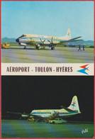Aéroport Toulon Hyères. Avion Air Inter Vickers Vicount 724. Aviation. Var (83). - Toulon