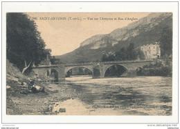 82 SAINT ANTONIN VUE SUR L AVEYRON ET ROC D ANGLARS LAVANDIERE CPA BON ETAT - Saint Antonin Noble Val