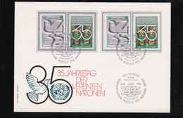 UNO Genf - MiNr. 92/93 A Und 92/93 B Auf FDC O.A. - Covers & Documents
