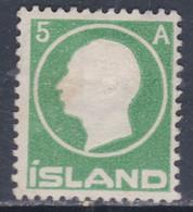 Islande N° 68 (.) Effigie De Frédéric VIII ; 5 A. Vert Neuf Sans Gomme - Ungebraucht