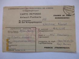 Frankreich Kriegsgefangenenpost Berlin 1948 Nach Straßburg (62515) - American,British And Russian Zone