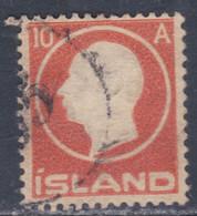 Islande N° 69 O Effigie De Frédéric VIII ; 10 A. Rouge, Oblitéré, TB - Gebraucht