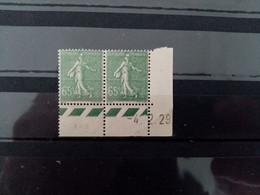 FRANCE. 1929. N° 234. SEMEUSE Lignée  Paire Coin Daté 29. NEUFS SANS Charnières . Côte YT 2020  : 32,00 € - ....-1929