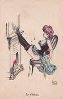 CPA - FANSTAISIE GRIVOISE -  ILLUSTRATEUR (G.MOUTON) - La Chaleur -     (pat 152 ) - Other Illustrators