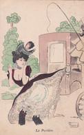 CPA - FANSTAISIE GRIVOISE -  ILLUSTRATEUR (G.MOUTON) - La Portière   -     (pat 152 ) - Other Illustrators