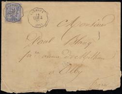 France N°68, Sage 25c Outremer, Type I Càd Ferroviaire CARMAUX CARM.AL - B/TB - 1876-1878 Sage (Typ I)