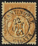 France N°92, Oblitéré Càd CONSTANTINOPLE GALATA 1881 - SUPERBE - 1876-1898 Sage (Type II)