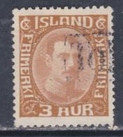 Islande N° 83 O Christian X : 3 A. Bistre, Oblitéré, TB - Gebraucht