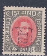 Islande N° 84 O Christian X : 4 A. Gris Et Rouge, Oblitéré, TB - Gebraucht