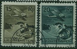 LIECHTENSTEIN 1930 Air 15r & 20r SG 110-1 Used - Gebraucht