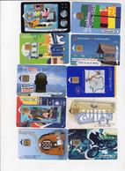 Lot De 10 Cartes Téléphoniques , Toutes Différentes - Collections