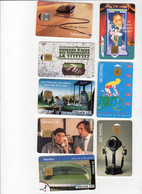 Lot De 9 Cartes Téléphoniques , Toutes Différentes - Collections