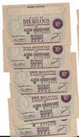Dix Kilos Acier Ordinaire 1944 5 Billets Numéros Qui Se Suivent Lot2 - Bons & Nécessité
