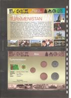 Turkmenistan - Folder Bolaffi Monete Del Mondo - Prima Serie Completa FdS - 1993 Km1/km5 - Turkmenistan