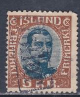 Islande N° 97 O Christian X : 5 K.  Brun Et Bleu, Oblitéré, TB - Gebraucht