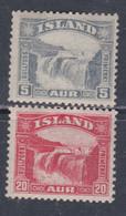 Islande N° 139 / 40 X Chutes De Gullfoss, Les 2 Valeurs Trace De Charnière, Sinon TB - Ungebraucht