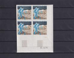 MALI 1973, Mi# 380, Block Of 4, Imperf, Space, MNH - Africa