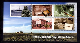 2019 Ross Dependency  Cape Adare Polar Research MS MNH** MiNr. 167 - 171 (Block 21) Ship, Birds, Borchgrevink - Unused Stamps