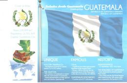POSTAL   SITUACION Y BANDERA DE GUATEMALA - Other