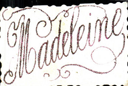 Le Prénom De Madeleine Sur Carte Postale - Voornamen