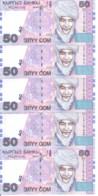 KIRGHIZISTAN 50 SOM 2002 UNC P 20 ( 5 Billets ) - Kyrgyzstan