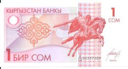 KIRGHIZISTAN 1 SOM ND1993 UNC P 4 - Kyrgyzstan