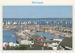 Postcard  Helsingor Marinaen Ved Starten Til Sjaelland Rundt [ Yacht Marina ] My Ref B24765 - Danimarca