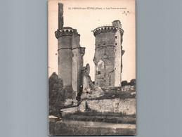 18 - Cher - Mehun Sur Yèvre - Cpa  - Les Tours En Ruines - Mehun-sur-Yèvre