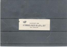 FRANCE -CARNET N°1331-C5 -Noir : 0,25 COQ DECARIS , Carnet Complet - Soudé - Luxe - Definitives