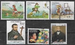 1980-5 Colombia Navidad Cuentos Infantiles-san Pedro Claver-andres Bello 6v. - Kolumbien
