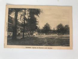 Carte Postale Ancienne  ( 1913)  TOURNAI  Caserne Des Chasseurs à Pied - La Cour - Tournai