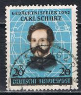Bund 155 Gestempelt - Carl Schurz 1952 - Gebraucht