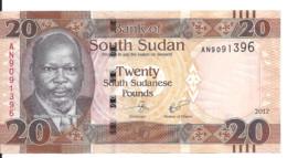 SOUDAN SOUTH 20 POUNDS 2017 UNC P 13 C - Sudan