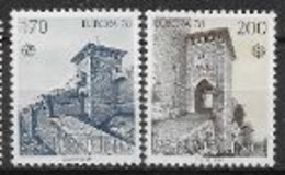 Saint Marin 1978 N° 955/956 Neuf Europa Monuments - 1978