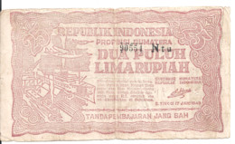 INDONESIE 25 RUPIAH 1948 VF P S191 - Indonesia