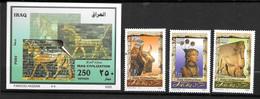 Irak:Bf N°97 Et N°1538/39/40** Patrimoine Historique - Irak