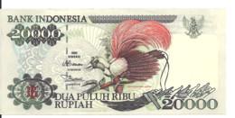 INDONESIE 20000 RUPIAH 1995 AUNC P 135 A - Indonesia