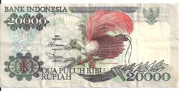INDONESIE 20000 RUPIAH 1995 VF P 135 - Indonesia